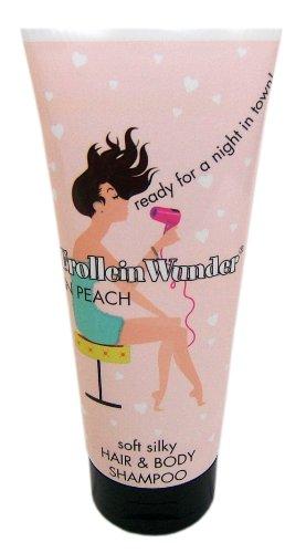 Village Frollein Wunder Hair und Body Shampoo Peach, 200 ml