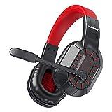 BENGOO M202 Gaming-Headset für Xbox One, PS4, PC, Stereo-Surround-Sound, Over-Ear-Headset mit Geräuschunterdrückung, weiche Memory-Ohrenschützer für Laptop, Mac, Nintendo Gamecube, Rot
