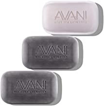 AVANI Dead Sea Cosmetics Mud and Salt Soap Set – Includes Vitamins, Essential Oils, Minerals – 2 Mud Soaps + 1 Salt Soap