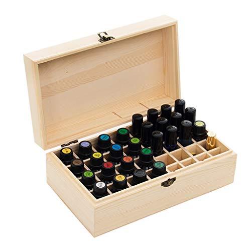 Trousses à maquillage Boîte à huile essentielle Boîte à huile essentielle de haute qualité Boîte de rangement Boîte en bois de 32 bouteilles Boîte de rangement créative simple Cadeau de vacances Trous