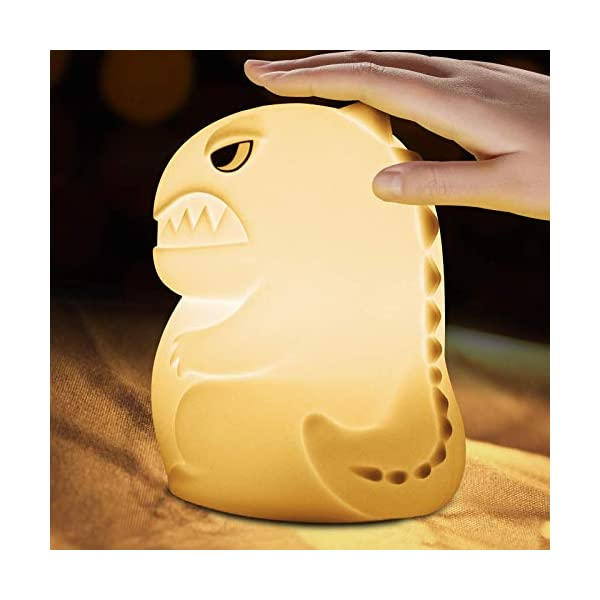 Dinosaur Night Light for Kids – Dinosaur Toys Kawaii Gifts for Toddler Boys,Baby Nursery Lamp LED Rechargeable,Color Changing Nightlight Remote Control,Bedroom Decor Christmas Gifts