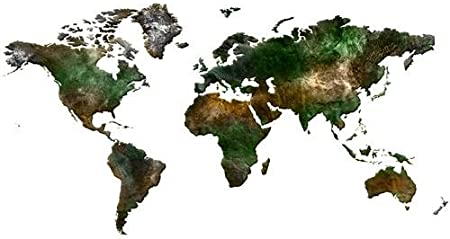 BLANK WORLD MAP GLOSSY POSTER PICTURE BANNER globe countries ocean 130