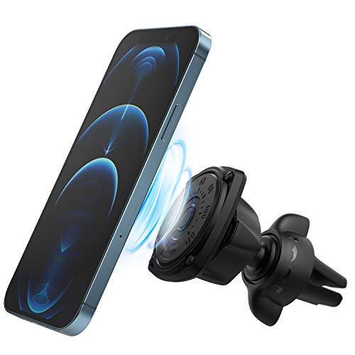 Ringke Power Clip Air Vent Supporto Auto Smartphone Veicolare Doppio Pomello Tecnologia Salvaspazio Magnete Premium Universale Telefono Stand del Cruscotto [Pacchetto 2 in 1]