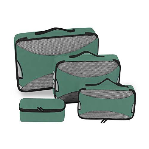 Embalaje Organizador Cubos Deportes Marciales Chinos Taekwondo Carry On Pack Cubos Cubos de Equipaje para Viajar Organizador de Maleta de 4 Piezas Bolsa de Almacenamiento de Equipaje Ligero