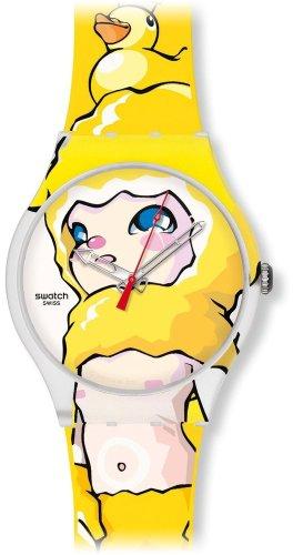 Swatch SUOZ113 - Reloj analógico infantil de cuarzo con correa de silicona multicolor