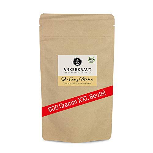 Ankerkraut Bio Curry Madras, 600g im Beutel, Curry-Pulver BIO