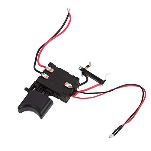 Interruptor Taladro Eléctrico Interruptor De Taladro Inalámbrico Batería De 12v Fa2-16 / 1wek Litio El Gatillo De Control De Velocidad Taladro Eléctrico Regulador De Velocidad Negro