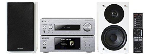 Pioneer P2W impianto compatto (Stereo ricevitore, Network Player, 2x 75Watt, Direct Energy HD amplificatori, WiFi, Bluetooth) argento/bianco