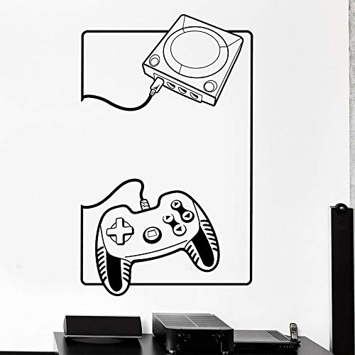 wZUN Gamer Wall Sticker Gamepad Console Joystick Vinilo Tatuajes de Pared Decoración del hogar 68X42cm