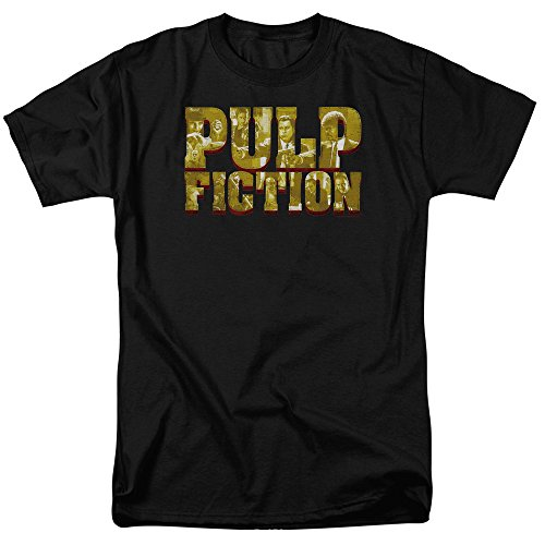 Pulp Fiction Pulp Logo Unisex Adult T Shirt for Men and Women, 2X-Large...