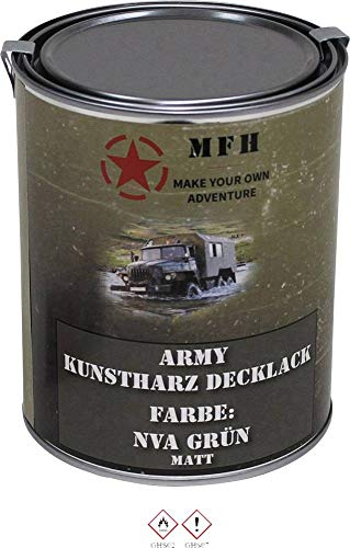 MFH 40358 Farbdose Army NVA grün NVA-Olivgrün (seidenmatt) 1l