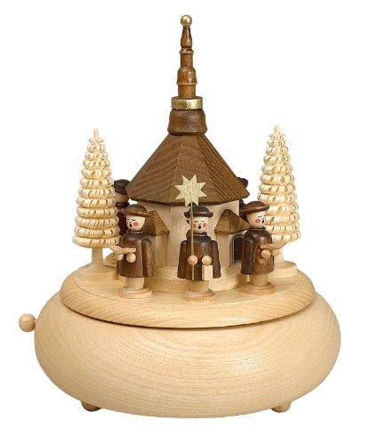 Volkskunstwerkstatt Unger Spieldose - Musikdose mit Seiffener Kirche - Echt Erzgebirge® #0230