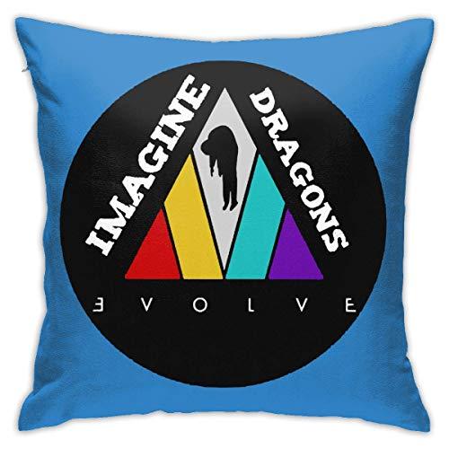 tour Imagine The Dragons Print Design Cotton Linen Decorative Throw Pillow Case Pillow Cover Home Decor for Sofa Car Bedroom Fundas para Almohada 22x22Inch(55cmx55cm)