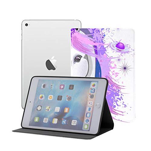 IpadMiniHardCaseforKids Unicorn Spirit Pink Purple Ultraviolet Mythical FolioIpadCase Ipad Mini 1/2/3 Auto Sleep/Wake with Multi-Angle Viewing for Ipad Mini 3/ Mini 2/ Mini 1