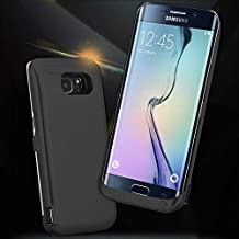 [Galaxy S6 Edge Plus Battery Case] 5200mAh External Rechargeable Backup Battery Back Bumper Protection Case Cover for Samsung Galaxy S6 Edge+ SM-G928V Smartphone