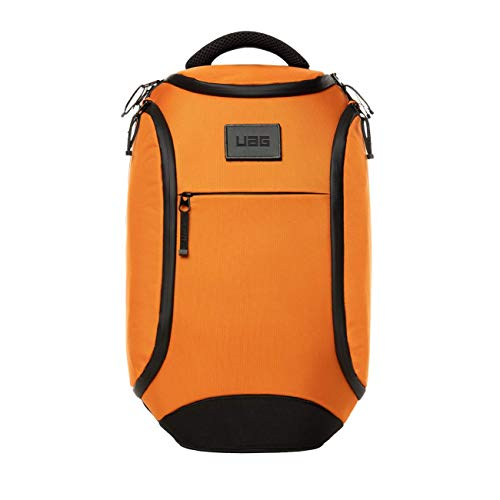Urban Armor Gear Backpack for laptops and tablets up to 13 inches (18 litres, ergonomic padding, weatherproof zips, wear-resistant material) - orange