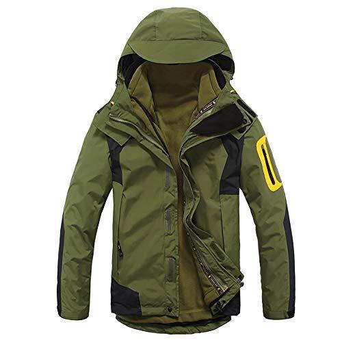 Chaquetas ligeras softshell para hombre Chaquetas for hombres y mujeres engrosados, chaqueta con capucha multifuncional a prueba de viento y impermeable a prueba de agua. Transpirable al aire libre
