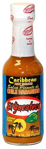 Salsa Habanero Caribbean Style HOT - El Yucateo, 120 ml