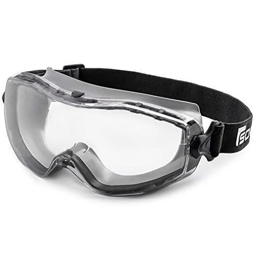 SOLID. gafas proteccion trabajo de ajuste perfecto | Gafas de seguridad a prueba de polvo con ajuste universal | Para los usuarios de gafas | Resistentes a los arañazos, antiniebla & protección UV