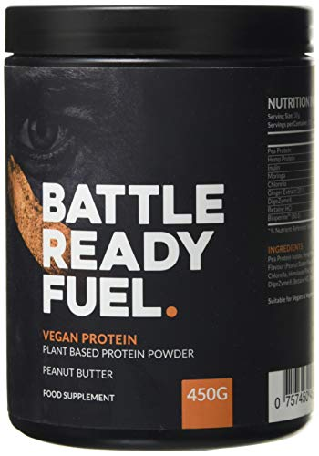 Battle Ready Fuel Vegan Plant-Based Protein Powder Nutritional Supplement (450g) — Peanut Butter Flavor