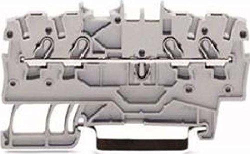 WAGO Kontakttechnik Klemme 1,0 qmm 2000-1405 schwarz Durchgangs-Reihenklemme 4045454966966