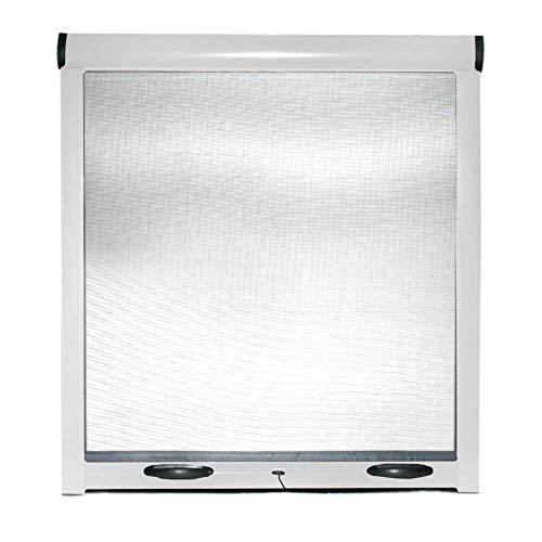 Zanzariera a rullo per finestra di casa con frizione in kit riducibile (bianco, 80x170cm)