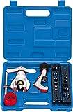 """GASMOBE Caja con Abocardador Excéntrico para tubos desde 1/4' a 3/4' + CT274 cortatubos 1/8""""~ 1-1/8"""" (3~28mm) + BT208 escariador cuerpo plástico 3/16' a 1-1/2'."""
