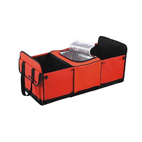 KDOAE Aufbewahrungstasche Multifunktions-Trunk-Trimmer mit isoliertem Eisbeutel bewegliche wasserdichte Aufbewahrungsbox für Lagerung (Color : Red, Size : 60X31X28CM)