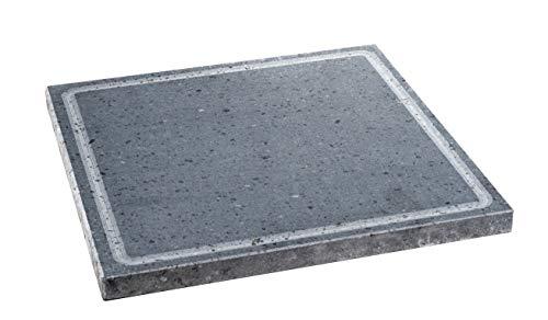 Etna Stone & Design Lava Grill BISTECCHIERA Pietra LAVICA ETNEA Piastra LEVIGATA 30x30 cm per Forno E Barbecue Cottura Carne, Pesce, Verdura E Pizza (S)