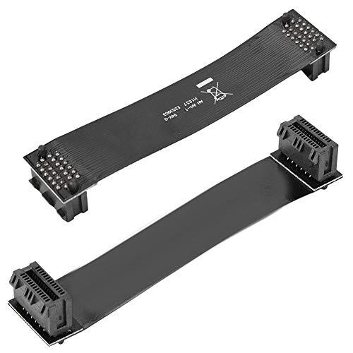 Wendry Flexibles SLI-Brücken-GPU-Kabel, VGA-Karte SLI Flexibles Brückenkabel-Verbindungsanschluss 10 cm, Dual-Grafikkarte SLI-Crossfire-Kabelbrückenanschluss für nVidia-GPUs-Grafikkarten