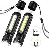 LEDGLE Linterna LED CREE T6 y COB LED Mini Protable Linterna USB...