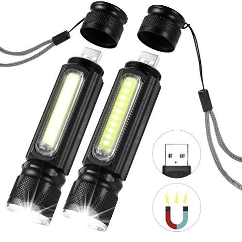 LEDGLE CREE T6 LED Taschenlampe USB Wiederaufladbare, 5 Lichtmodi, IP65 Wasserdicht, 2 stück