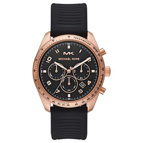MICHAEL KORS Orologio Cronografo Quarzo Unisex Adulto con Cinturino in Silicone MK8687