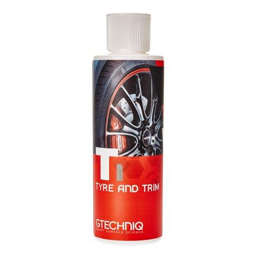 Gtechniq T1 Tyre n Trim 250ml - Keeps Tyres and Trim Black, Spotless, Pristine Condition - 1 Coat Satin Finish, Multiples Coats for Gloss Finish - Hydro Oleo Nanotechnology Water and Oil Repellency