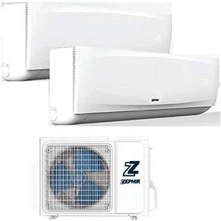 Zephir - Aire acondicionado Dual Split 9000 + 12000 + Radiador clase A+ A++ Deshumidificador climatizador