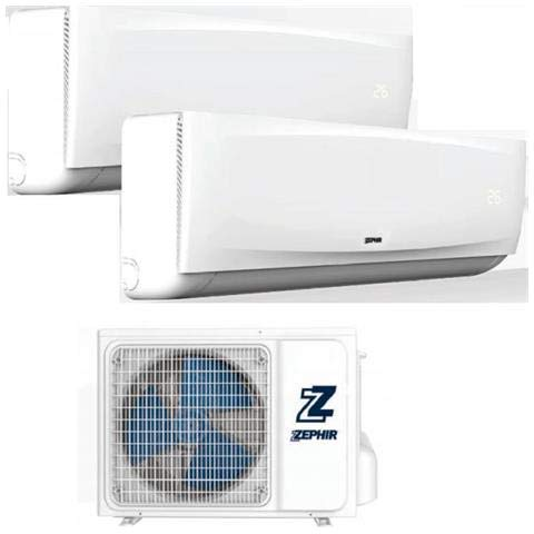 Zephir airconditioning Dual Split 9000 + 12000 + radiator klasse A+ A++ luchtbevochtiger airconditioning