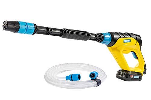 Gloria MultiJet 18V - Multifunktionaler Akku Hochdruckreiniger | Schaumpistole zur Autowäsche | Pflanzenschutzmittel sprühen | 4-in-1 Düse, 40 cm Lanze, 5 m Schlauch | BOSCH Akku & Ladegerät inkl.