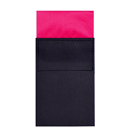 DonDon Herren Einstecktuch vorgefaltet eckig am Karton größenverstellbar pink
