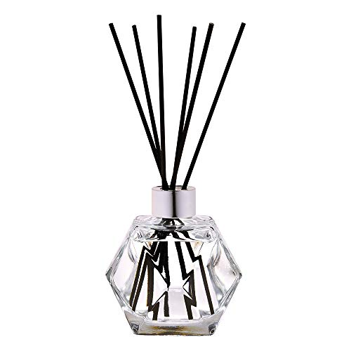 Lampe Berger Geometry Home Fragrance Diffuser - Clear - Reed Diffuser Gift Set - 8 sticks - Prefilled with 180ml Zest of Verbena Fragrance - Made in France