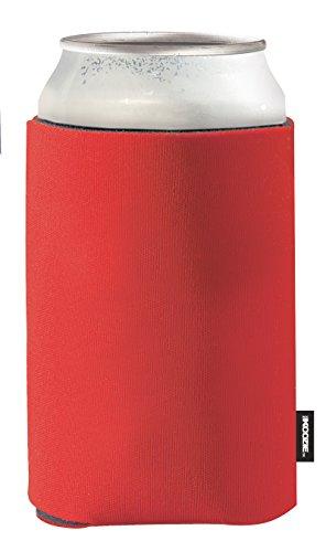 Pack 5 Koozie plegable Kooler Koozie puede - Puede el refrigerador - para 0,33 latas L., rosso