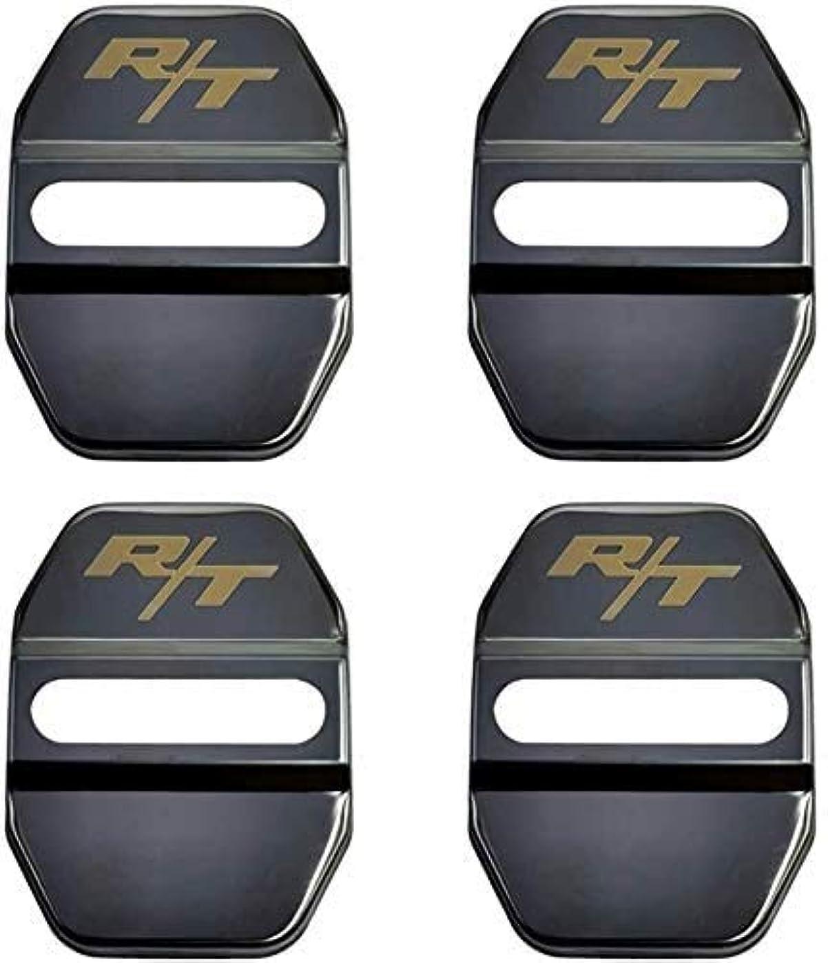 三熟達エネルギー4本ロックドアロックステンレスカバー、RT、ストライカードアロックドアカバー錆保護バックル (Color : Black)