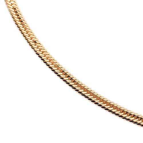 18金 喜平 ネックレス 12面 トリプル 10g - 40cm 中留(中折) ゴールド メンズ レディース チェーン K18 造幣局検定マーク刻印入