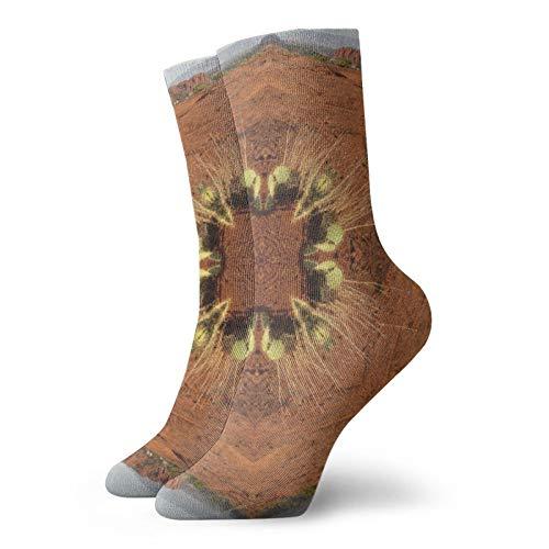 Calcetines de aterrizaje Pad Rocas Clásicos Ocio Deporte Calcetines Cortos 30cm/11.8 pulgadas Adecuado para Hombres Mujeres