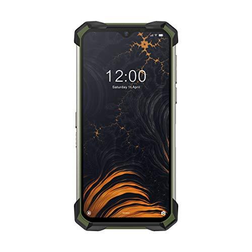 DOOGEE S88 Pro (128GB+6GB RAM) Dual SIM グローバル版 SIMフリー 防水/防塵/耐衝撃性(IP68 / IP69K Waterproof & Dustproof and MIL-STD-810G Drop Proof) 21MP+8MP+8MP AI Tripleカメラ 10,000mAh大容量バッテリー (Army Green/アーミーグリーン)
