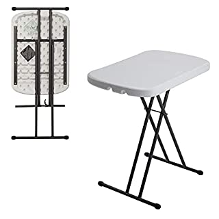 Lifetime 80251 Height Adjustable Folding Personal Table, 26 Inch, White Granite (B0074HYWFG) | Amazon price tracker / tracking, Amazon price history charts, Amazon price watches, Amazon price drop alerts