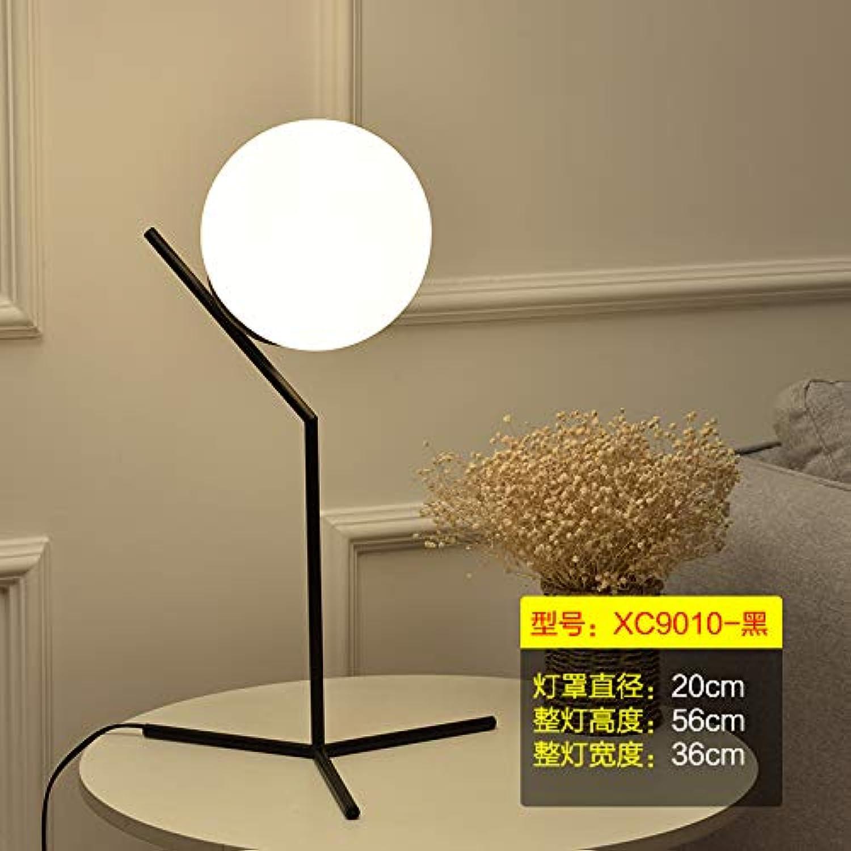Agorl Einfache moderne wohnzimmer kreative nordische studie schlafzimmer nachttischlampen, XC9010 schwarz + warmes licht, druckschalter
