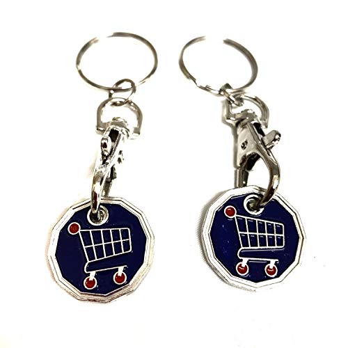 NO 1 Girlfriend SHOPPING TROLLEY Token Coin Key Rings *Gift Idea*
