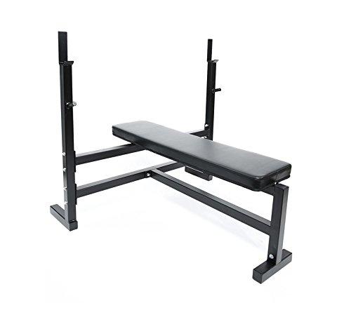 Ader Olympic Bench Press w/ 7' Bar, 116killogram (255pound) Plate Set, 2 Olympic Collars
