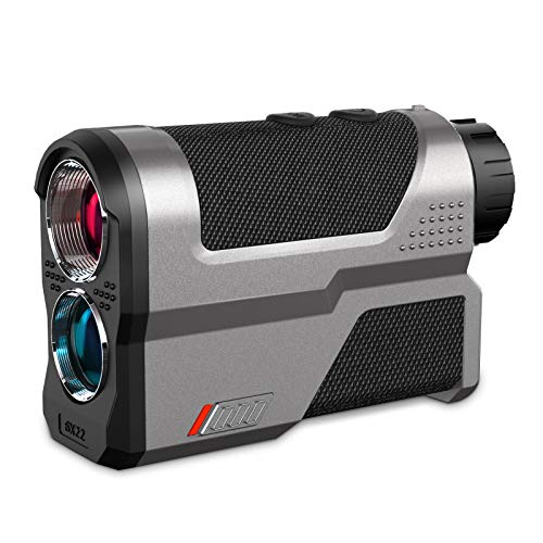 WOSPORTS Rechargeable Golf Rangefinder, 1200 Yards Laser Range Finder with Slope ON/Off Tech, Flag-Lock with Pulse Vibration, Angle, Height,Continuous Scan Measurement