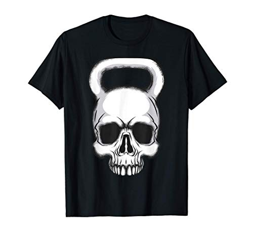 Kettlebell Tee Shirt Vintage Crâne Cadeau T-Shirt